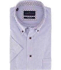 overhemd portofino korte mouw blauwe streep