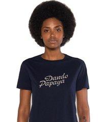 camiseta albedrío slim dando papaya azul