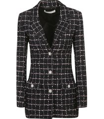 alessandra rich single-breasted embellished button blazer