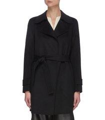 'oaklane' belted cashmere short coat