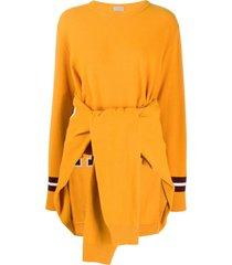 mrz tie around sleeves jumper - yellow