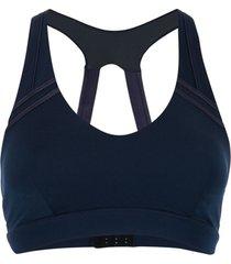 the upside top esportivo com detalhe de pesponto - azul