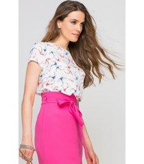 bluzka elegancka z krótkim rękawem