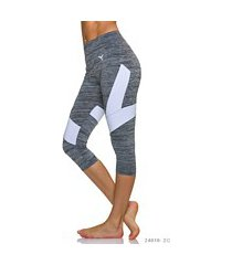 3/4-leggings grijs / wit