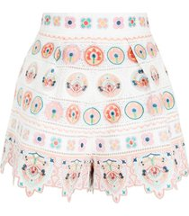 brighton embroidered shorts