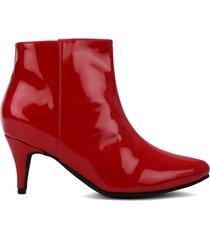 botín charol rojo heels.d