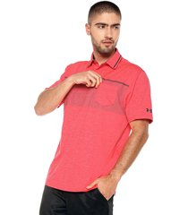 camiseta polo coral under armour playoff pocket