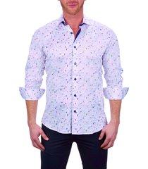 men's maceoo einstein beach white button-up shirt, size xxx-large - white