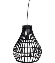 lampa wisząca bambusowa bella czarna