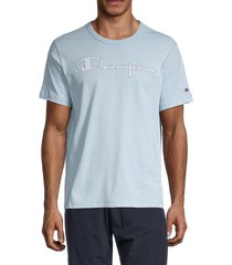 champion men's graphic logo t-shirt - red clay - size s