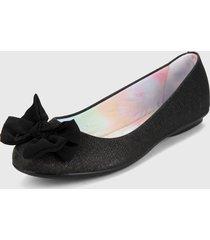 baleta negro-multicolor moleca
