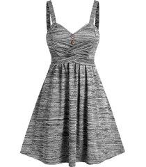space dye crisscross cami a line dress