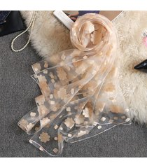 seta sintetica qualità donna soft protezione traspirante uv ricama sciarpa e scialle a fiori