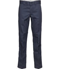 slim straight work pant chinos byxor blå dickies