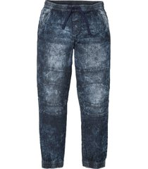 jeans con elastico in vita slim fit straight (nero) - rainbow