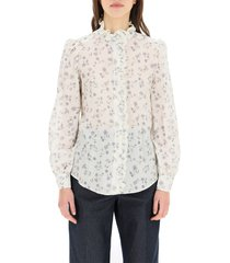 prairie print cotton voile shirt