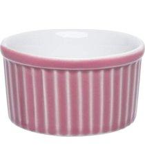 conjunto de 6 tigelas ramequin 100ml ramequin branco/rosa - multicolorido - dafiti