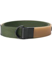 maison margiela numbers d-ring web belt - green