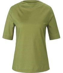 shirt van 100% katoen met korte mouwen van peter hahn groen