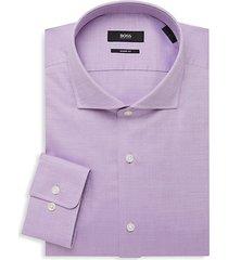 sharp-fit woven dress shirt