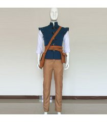 tangled prince flynn rider cosplay costume eugene fitzherbert men outfit