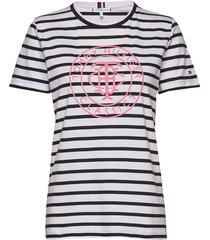 th cool ess relaxed t-shirts & tops short-sleeved multi/mönstrad tommy hilfiger