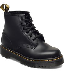 101 bex black smooth shoes boots ankle boots ankle boot - flat svart dr. martens