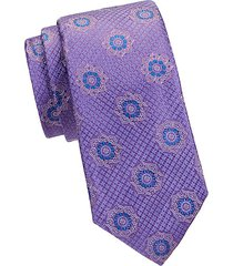 embroidered floral silk tie