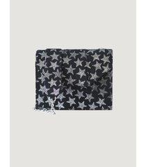 cartera negra tentroya mini stars gamuza