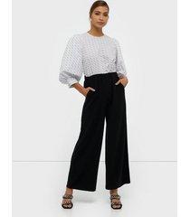 dr denim bell trousers byxor