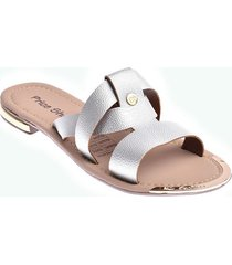 priceshoes sandalia plana dama 692p-04plata