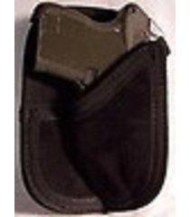 suede leather pocket wallet holster for kel-tec p-3at