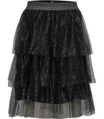 skirt troja knälång kjol svart lindex