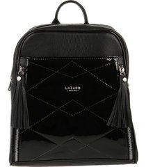 mochila de cuero negra puebla lazaro