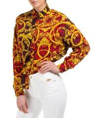 camicia donna maniche lunghe leo chain