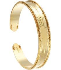 bracciale bangle raggi in bronzo dorato per donna