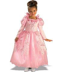 posh pink fairy tale sleeping beauty princess aurora gown/dress costume, rubies