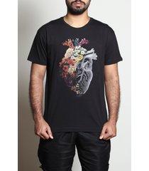 camiseta flower heart spring