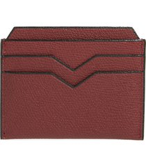 women's valextra leather card case -