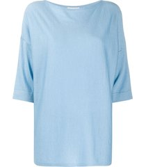 snobby sheep boxy fit knitted top - blue