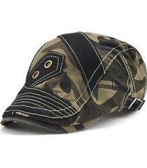 uomo coppola in cotone con patchwork con camuffamento da outdoor berretto  con visiera in colore a ffbda28692e6