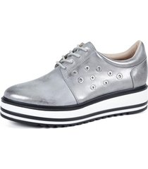 oxford zapato alaia plateado plateado eda manzini