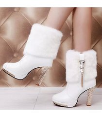 pb096 cutie knight booties w fur cover, size 35-41