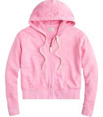 women's j.crew zip-up stripe cotton terry hoodie