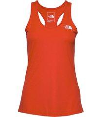 w flex tank - eu t-shirts & tops sleeveless orange the north face