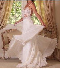 sexy backless chiffon lace /beach wedding dress,bridal dress/bridesmaid dress