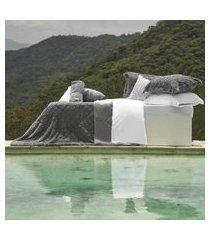 cobertor king slim peles dupla face com porta travesseiro urban - tessi