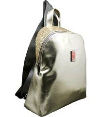 mochila dorada leblu