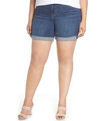 plus size women's liverpool corine denim shorts, size 18w - blue