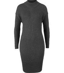 abito oversize in maglia operata (grigio) - bpc bonprix collection